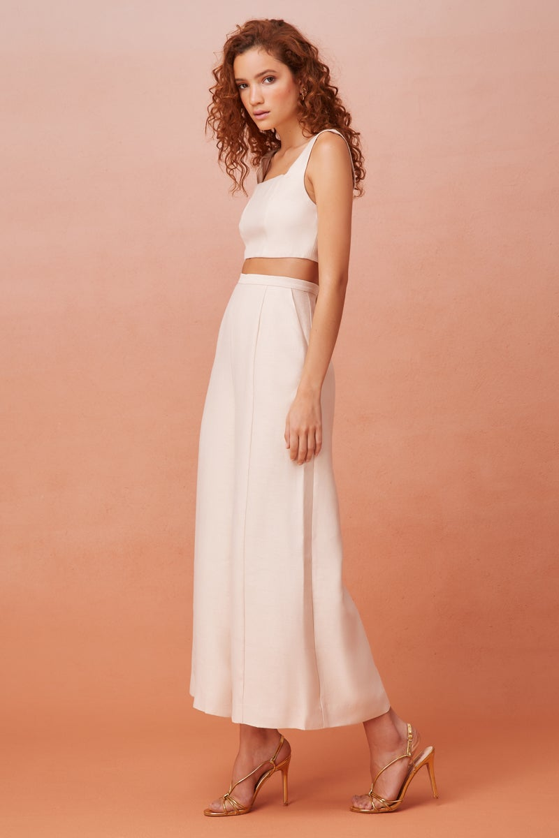 Dressy Matching Crop and Culotte Style Pant